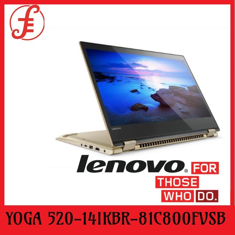 Lenovo Yoga 520-14IKBR (81C800FVSB) | Intel Core I7-8550U | 8GB DDR4 Ram | 512GB M2 PCIE SSD | MX130 2GB GDDR5 | 14.0 FHD IPS (TOUCH) | WIN 10 (81C800FVSB)