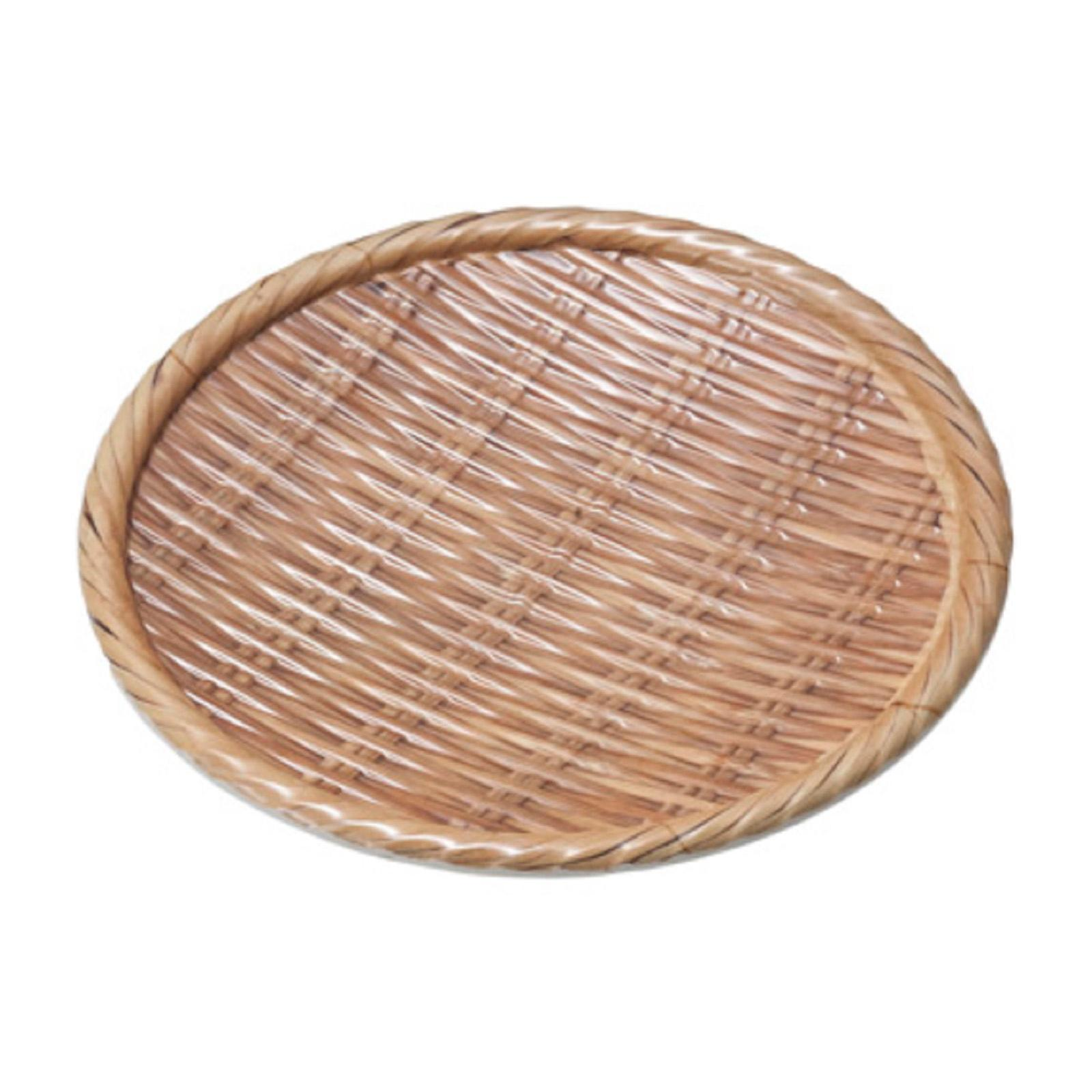 Shun Ta Melamine Round Plate 18 x H2.7 CM Natural Bamboo - By ToTT