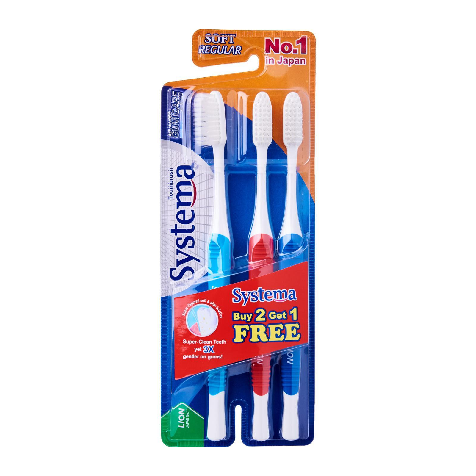 SYSTEMA Gum Care Toothbrush - Regular Soft B2G1F