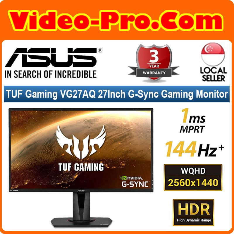 Asus TUF Gaming VG27AQ 27Inch G-Sync Gaming Monitor 155Hz 1440p 1ms IPS Eye Care DP HDMI