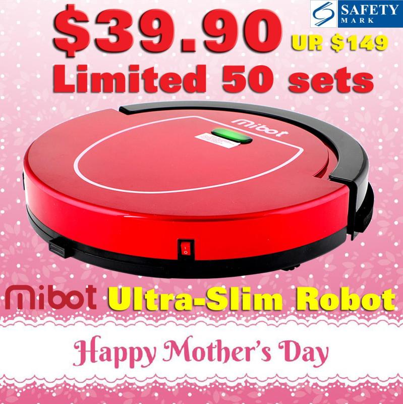 【MOTHER DAY SPECIAL!】 Mibot Ultra-Slim Smart Robot Vacuum with Sweeping Mop Machine 3-Pin UK Plug and Safety Mark Approved Singapore