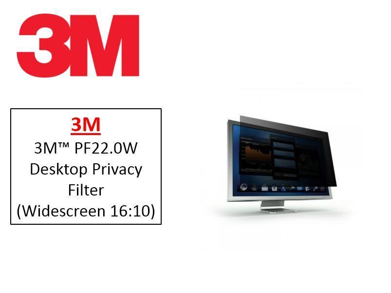 3M PF22.0W Desktop Privacy Filter (Widescreen 16:10)