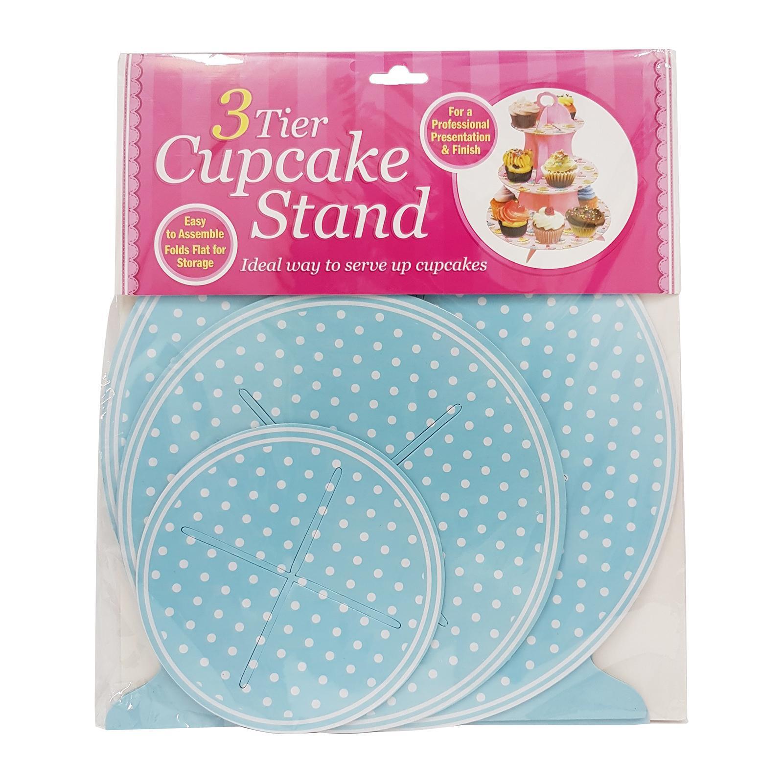 CGS Polka Dots 3 Tier Cupcake Stand (Blue)