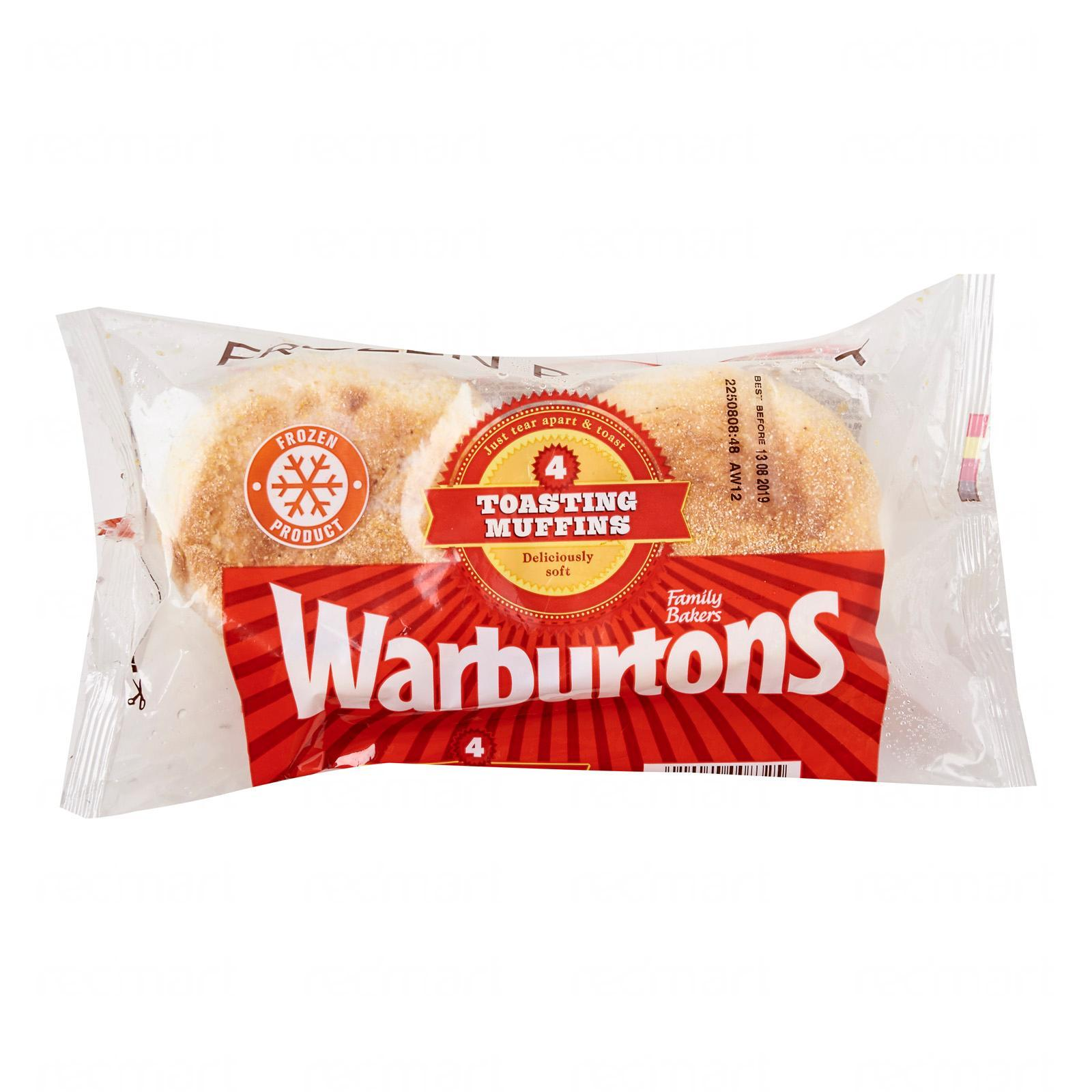 Warburtons 4 Tear And Toast Muffins - Frozen By Redmart.