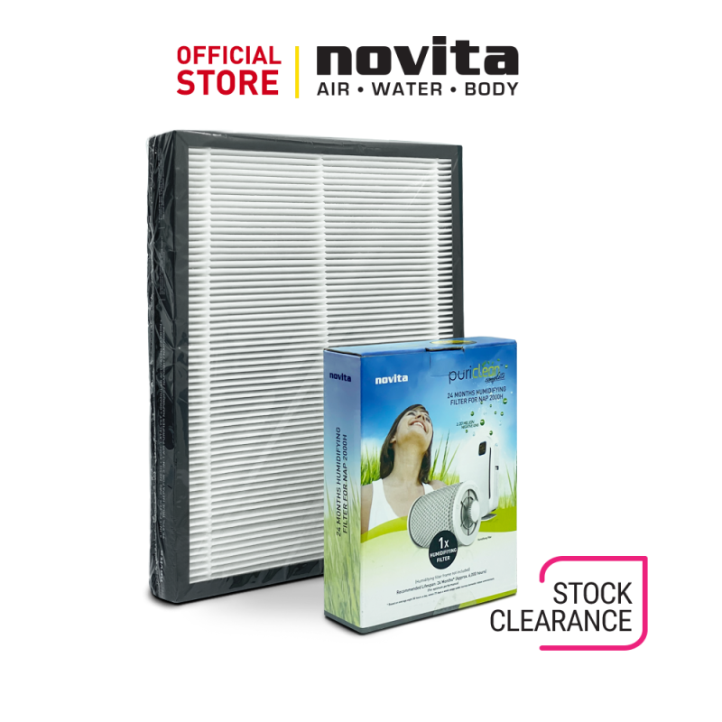 Clearance Sale (without box) - novita Air Purifier NAP002H/2000H 24-Months Replacement Filter Pack Singapore