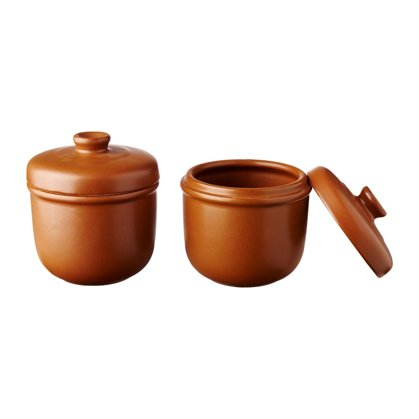 Tanyu 2 Pieces D/Boil Container - Brown Cookware