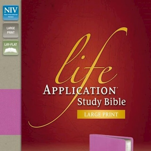 NIV Life Application Study Bible, Large Print Indexed - Dark Orchid/Plum Duo-Tone.