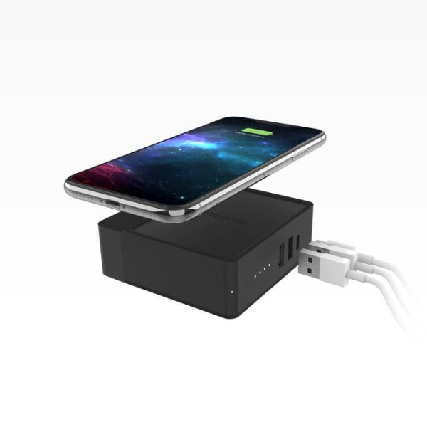 Mophie Powerstation Global Hub with Adapters (6,000mAh), Black