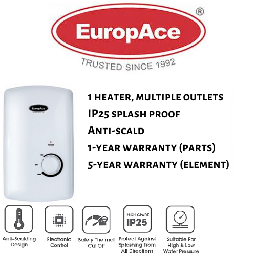 Europace Ewh 5451t Multi Point Instant Water Heater.