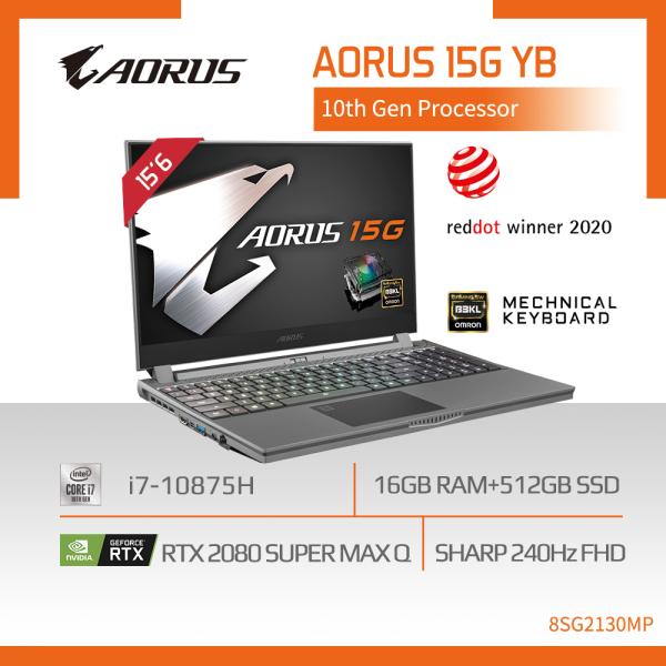 AORUS 15G YB (i7-10875H/16GB DDR4 2933 (8GBx2)/GeForce RTX 2080 Super GDDR6 8GB Max-Q/512GB M.2 PCIE SSD/15.6inch Thin Bezel 240Hz FHD IGZO Display/WINDOWS 10 PROFESSIONAL) [Ships 2-5 days]