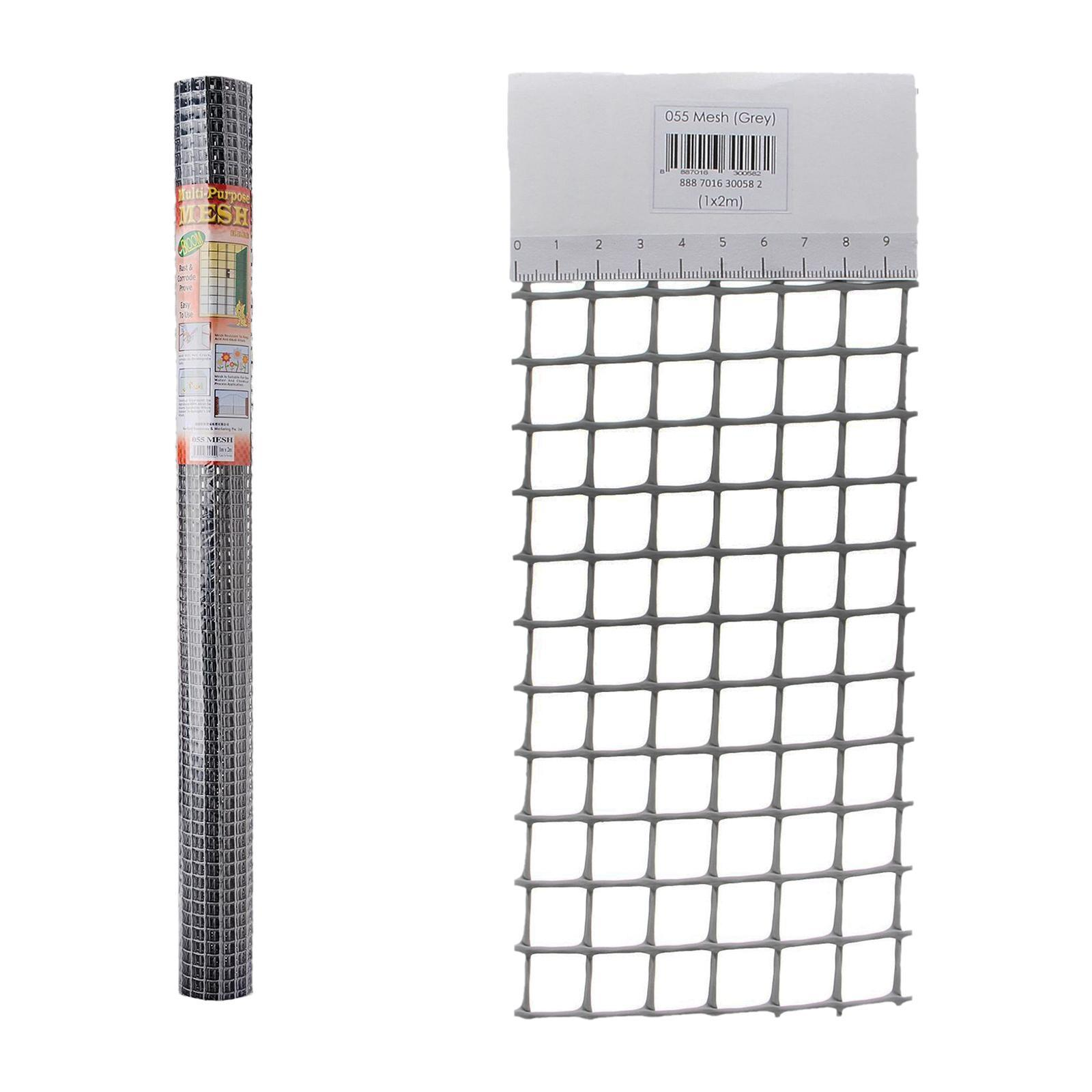 Bloom Multi-Purpose Mesh 2x1m - 14mm (Rectangular)(Grey)