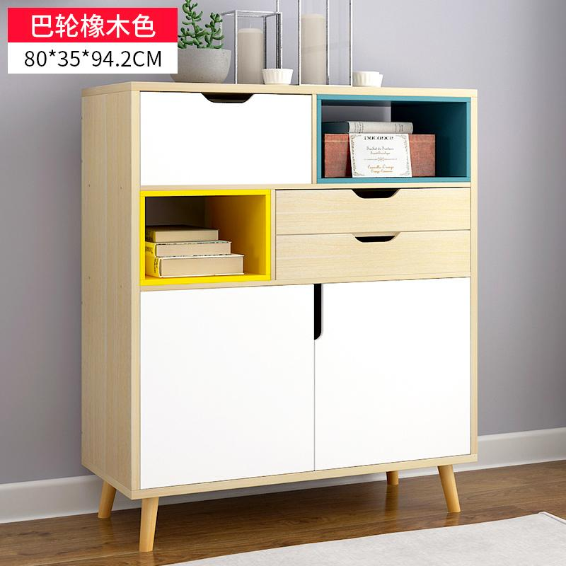 Yijiada Northern European-Style Sideboards Cabinet Simple Living Room Tea Cabinet Kitchen Cabinet Simplicity Cabinet Sub-Assembly Cupboard