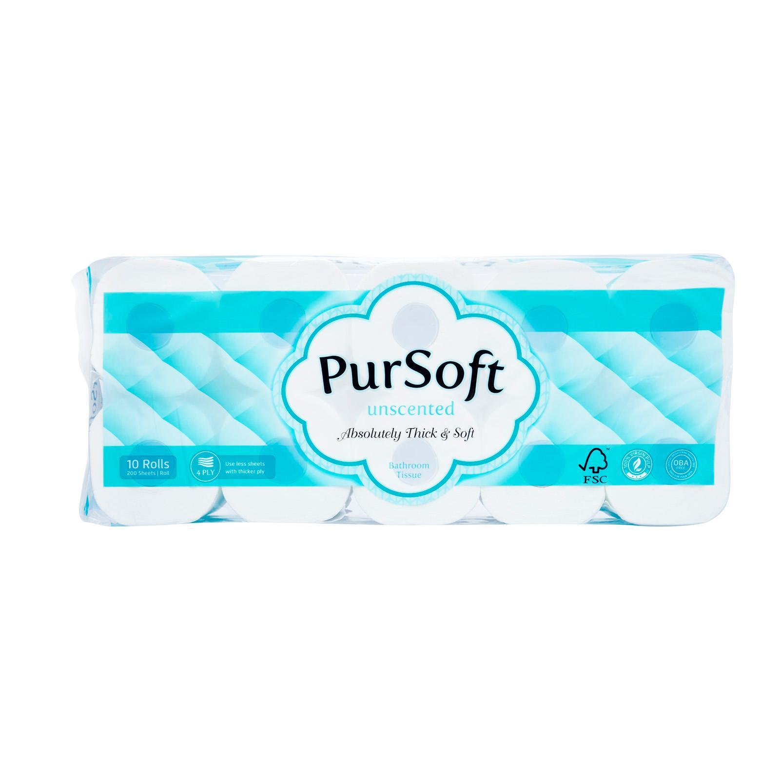 PurSoft Unscented Core 4-Ply Toilet Tissue - 10 Rolls