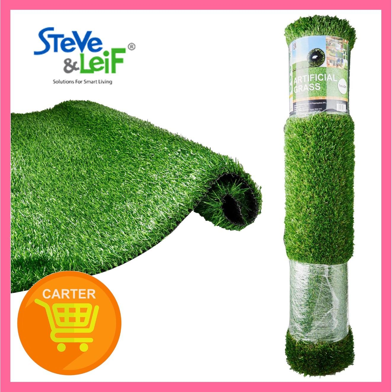 Steve & Leif Realistic Artificial Green And Yellow Grass (1M x 2M)