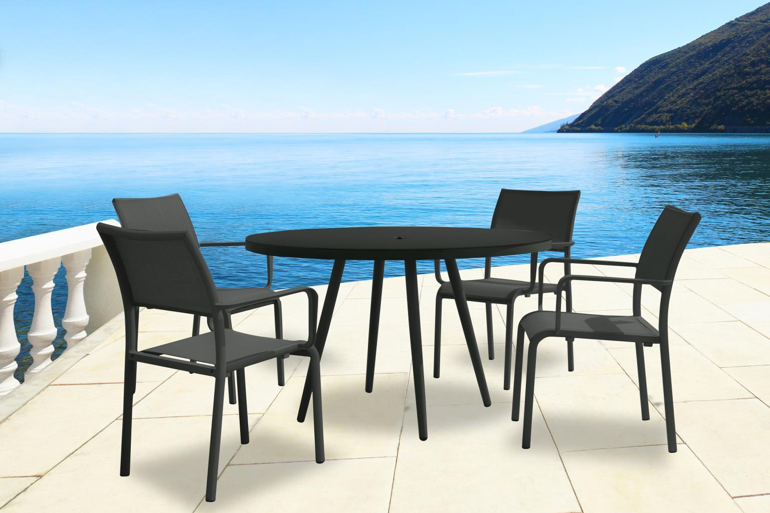 TOPLINE Fiji Outdoor dining Table & chairs with arms set