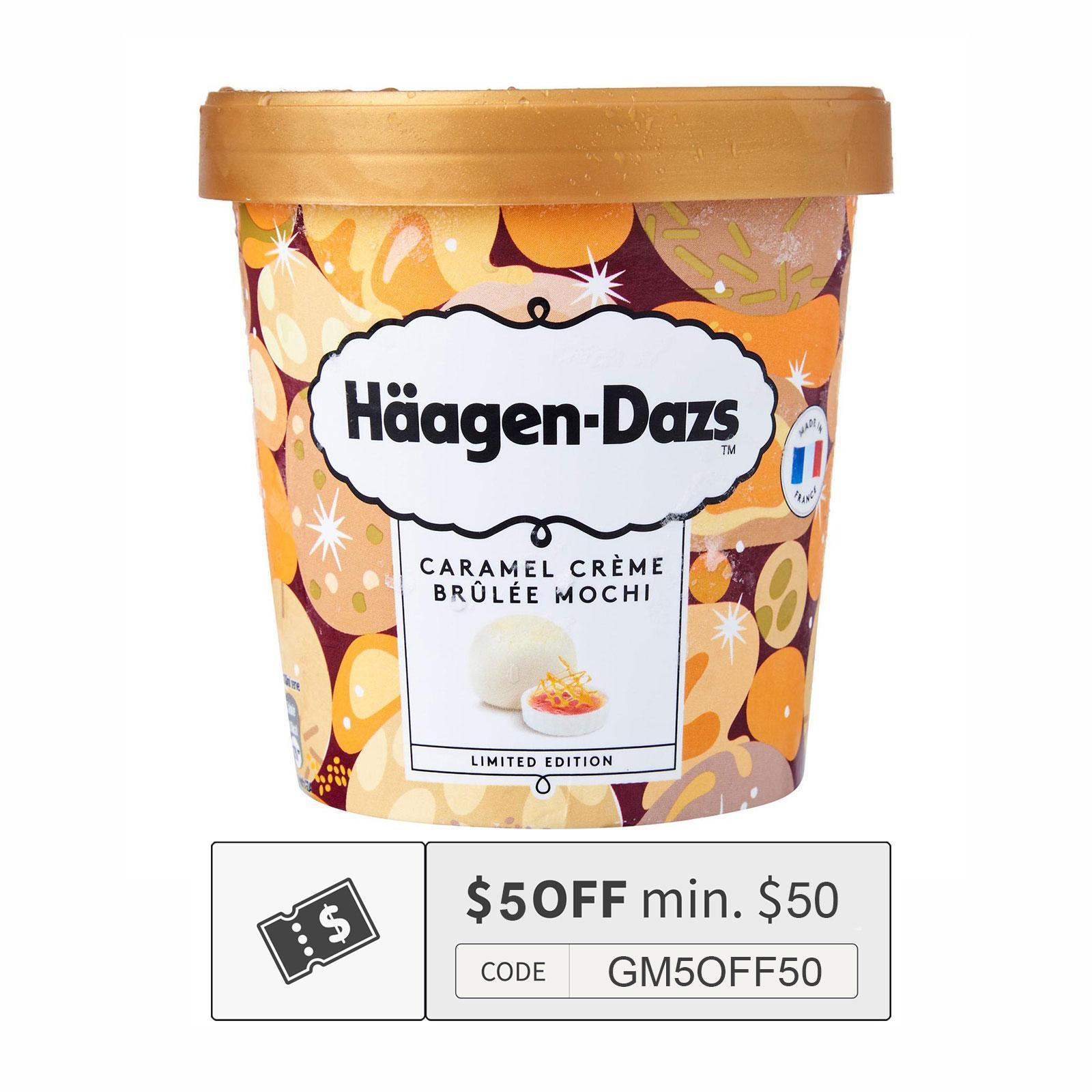Haagen-Dazs Caramel Creme Brulee Mochi Ice Cream