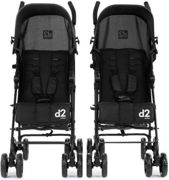 Diono Two2Go Lightweight Twin Double 2 Two Child Children Kids Separable Detachable Stroller. Black Singapore