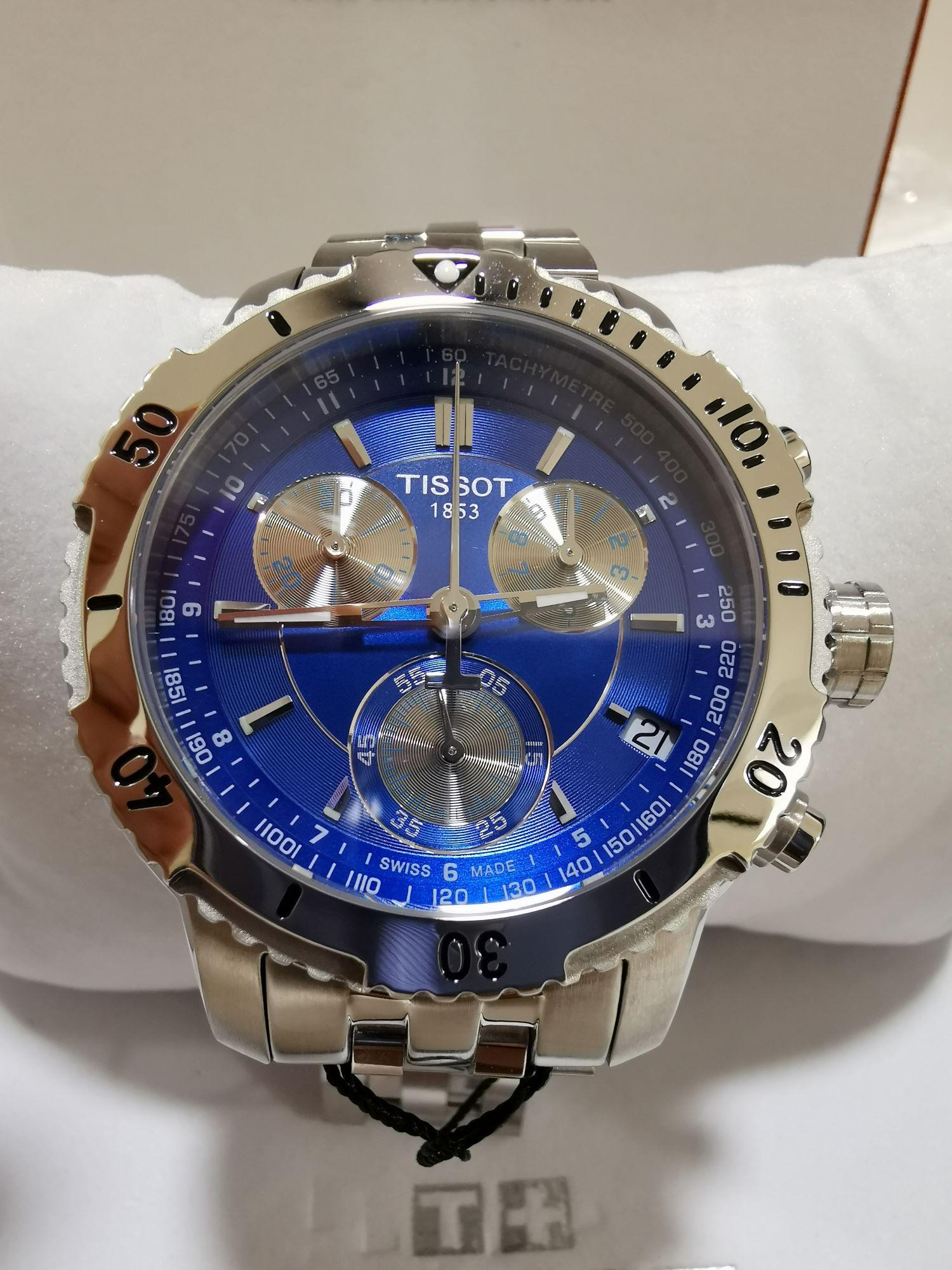 Tissot T0674171104100 Prs 200 Chronograph Blue Dial Quartz Sport Mens Watch By Watch Hub Sg.