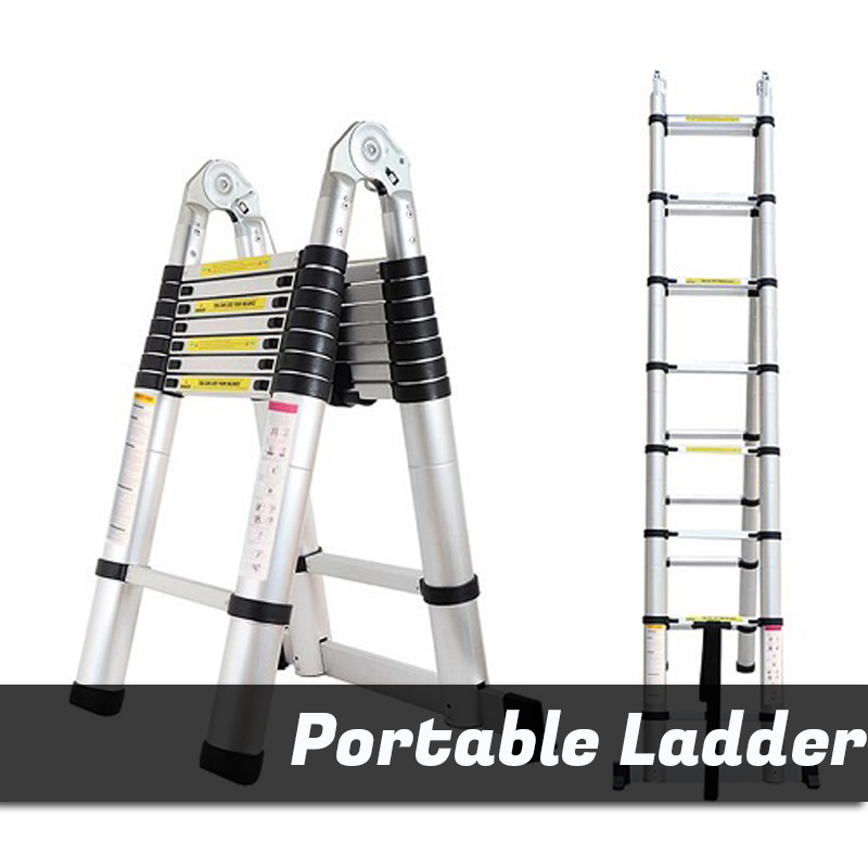 Portable / extendable multi function ladder STEEL LARGE BROAD STEP LADDER / Home Decoration