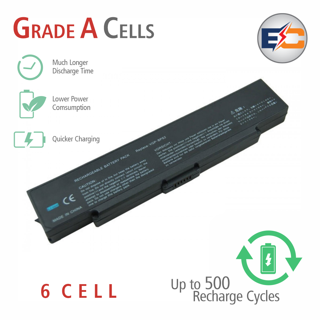 Replacement Laptop Grade A Cells Battery BPS2-3S2P Compatible with Sony PCG-6C1M, PCG-6C1N, PCG-6C1N, PCG-6J1M, PCG-6P1L, PCG-6P1P, PCG-6P2L, PCG-6P2P, VGC-LB61B/P, VGC-LB62B/P, VGC-LB62B/W, VGC-LB63B/L, VGC-LB63B/P, VGC-LB92S