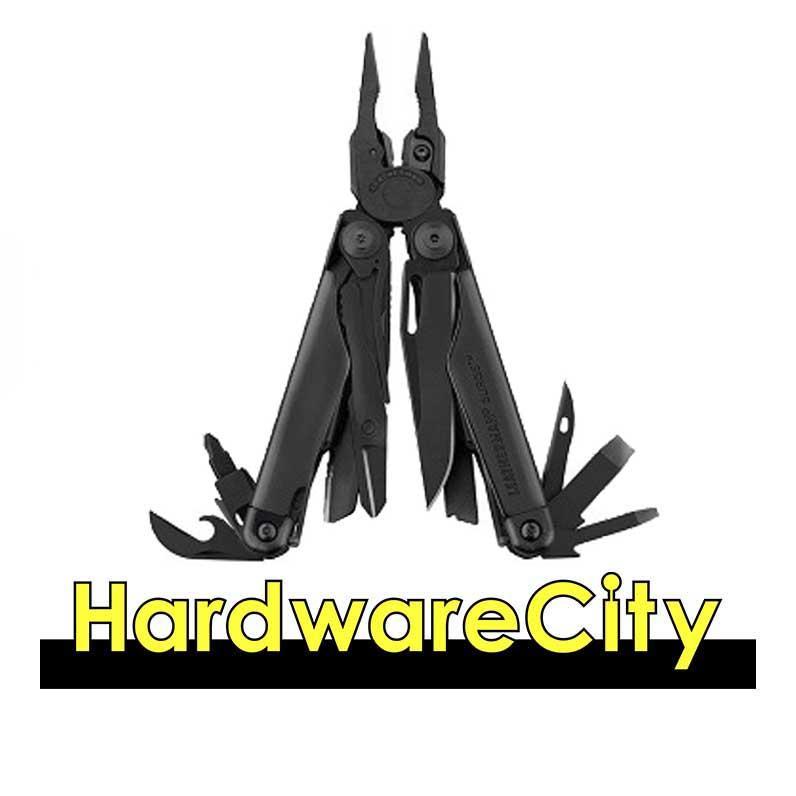 Leatherman Surge Black, Multi Tool With Leather Sheath [Surge Black]