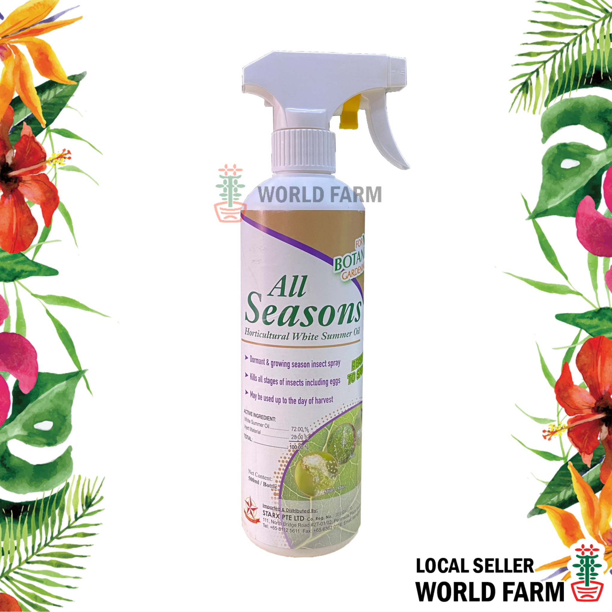 White Summer Oil Garden Insecticide 500ml