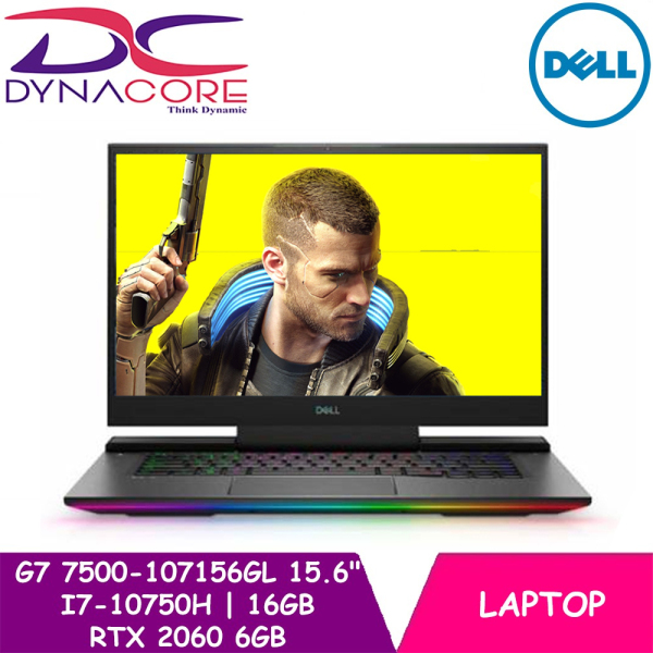 【DELIVERY IN 24 HOURS】 DYNACORE - DELL G7 15 7500 GAMING LAPTOP | 15.6 Full HD 300nits 144Hz IPS AG Display | i7-10750H | 16GB DDR4 RAM | 512GB NVMe M.2 SSD | Nvidia RTX 2060 6GB | Win 10 Home | 2yr Premium support + 1yr Lojack | G7 7500-107156GL