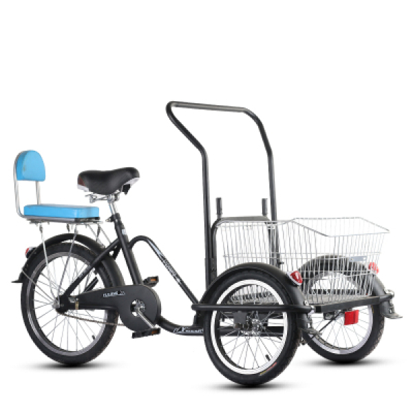 dao qi lv Tricycle Bicycle Adults Old Man Bike Pull Cargo Lightweight Human Pedal Bicycle Tricycle Singapore
