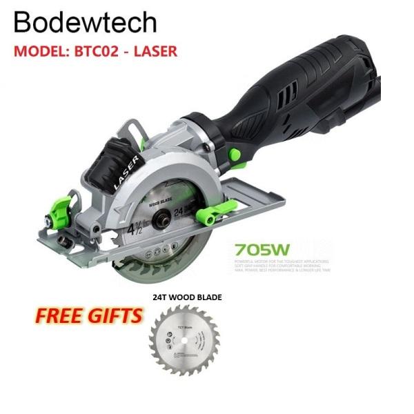 Bodewtech BTC02 Electric Mini Circular Saw, 705W 3500RPM Circular Wood Saw, Cutting: 42,8mm