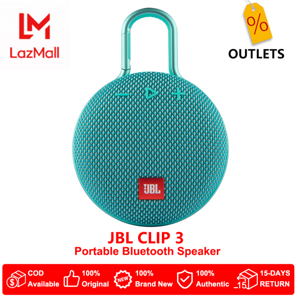 JBL Clip 3 Portable Bluetooth Speaker IPX7 Waterproof with noise cancelling speakerphone Singapore
