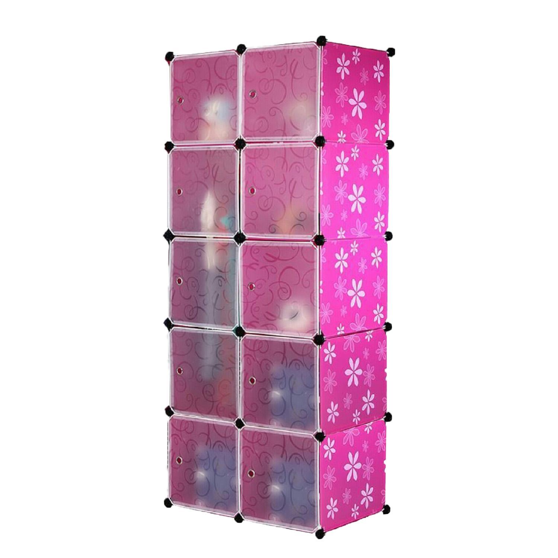 Wardrobe Storage Rack as Bedroom Furniture , Rack Wardrobe Clothes Organization Storage Cabinets , Cube Wardrobe Storage Cabinet Clothes Rack - Wardrobe 10 Cubes Design DIY Space Saving Closet Dresser for Standard Size