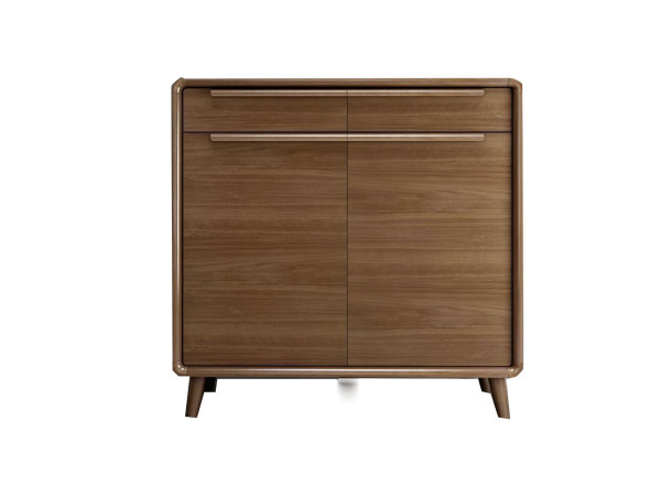 DK-32A 80cm 2 Doors Shoes Cabinet with Solid Wooden Legs