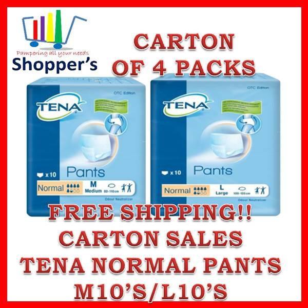 Buy Carton Sales TENA Normal Pull Up Pants 4 Packets-Normal/Large Singapore