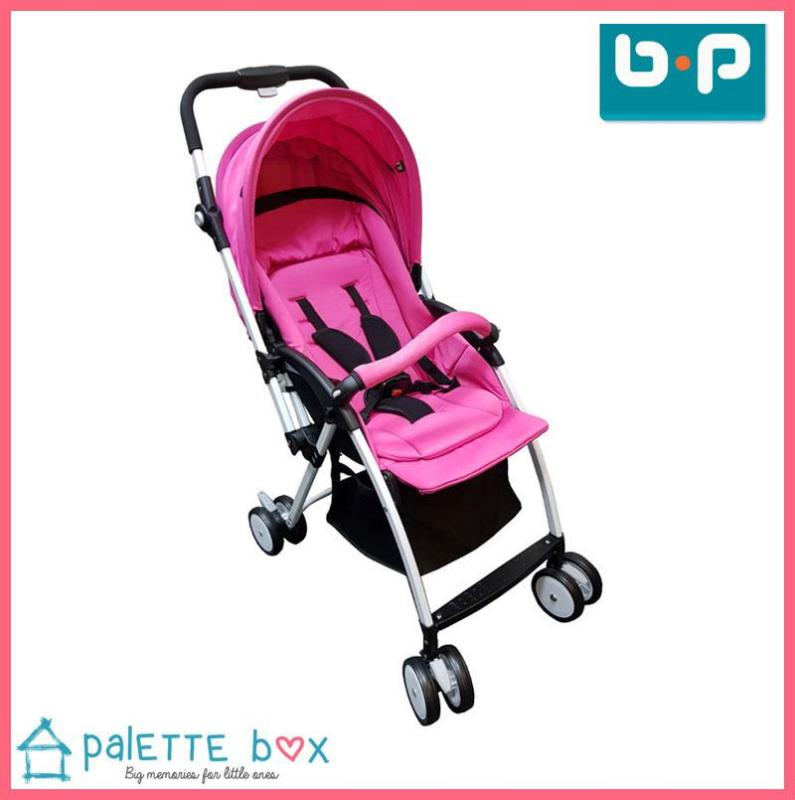 BP Alex Lightweight Stroller - Self Standing, Reversible Handle, Reclinable to 175 deg, Suitable for Newborn, 6 Position UV Canopy Shade, Adjustable Handle Bar for Caregiver Height, Large Storage Compartment *FREE Cooling Mat, Raincover, Mosquito Net* Singapore