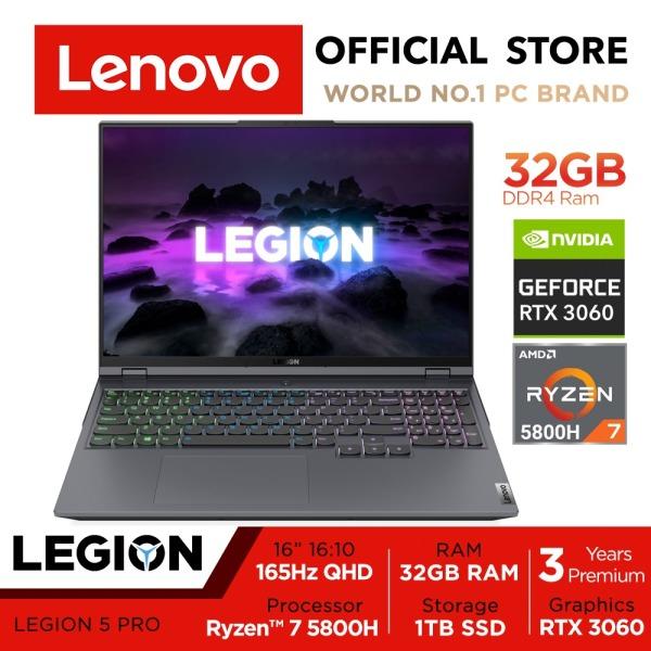 [Ready-Stock] Lenovo Legion 5 PRO 16ACH6H | 82JQ008YSB | 16inch 2560x1600 500nits 165Hz 100% sRGB | RTX™️ 3060(130W) | Ryzen 7 5800H | 32GB RAM | 1TB SSD | RGB Keyboard | 3Y Premium Care