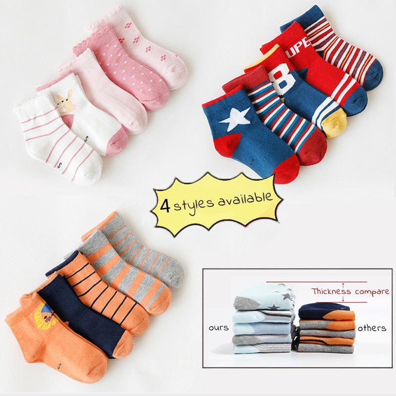 3cd98bad22a6 5 Pair lot Boys Girls Socks Cotton Breathable Striped Dots Soft Baby Kids  Children Socks