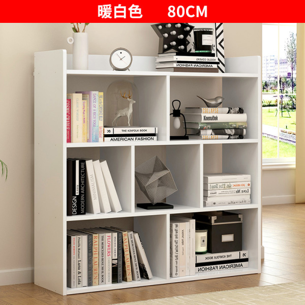 Simple Bookcase Landing Storage Shelf for Student Bookcase Bookshelf in My Bedroom Desk Minimalist Modern Storage Rack