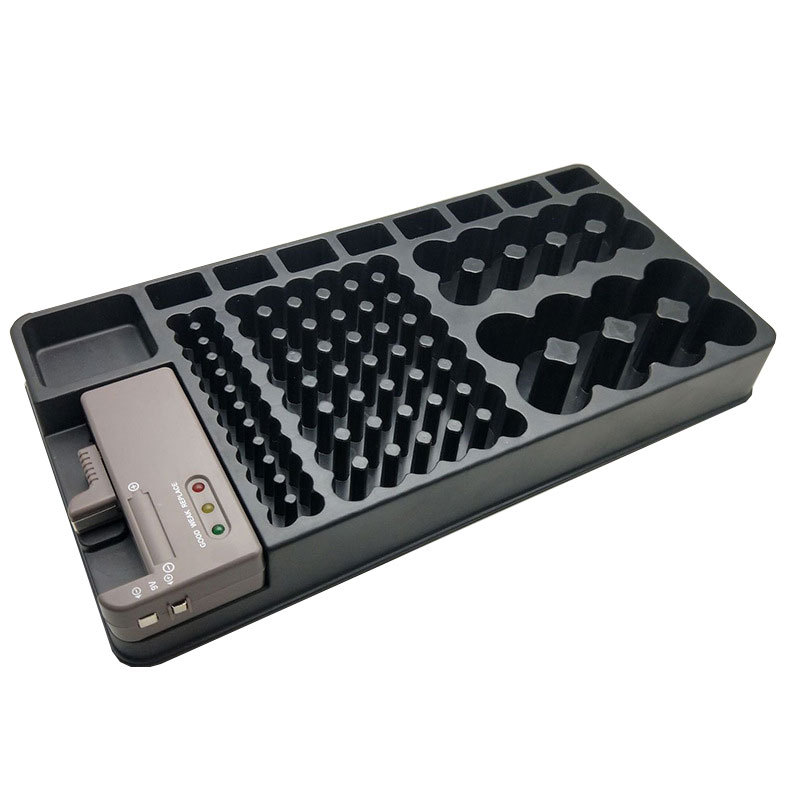 Battery Storage Box Organizer Holder with Tester Checker for AAA AA C D 9V Battery Caddy Rack Case