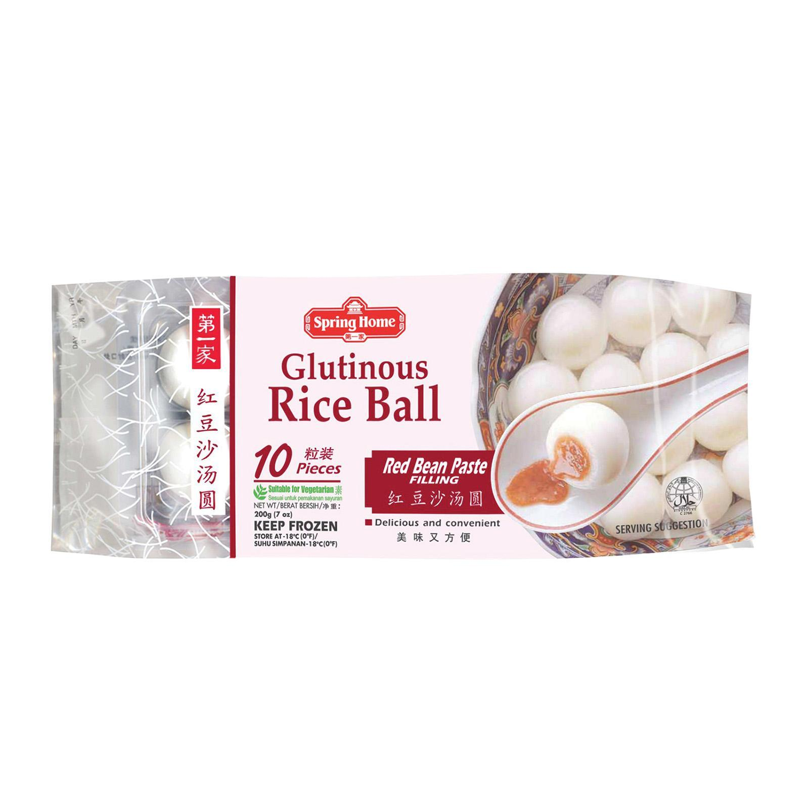Spring Home Glutinous Rice Ball - Red Bean (10 Pcs) - Frozen By Redmart.