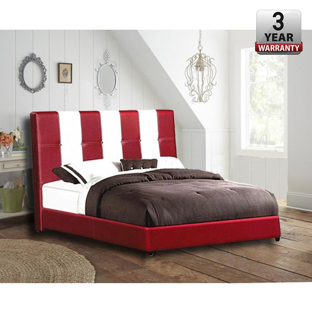 DE-LEON [190 x 154 x 95 cm] Queen Sized Bed Frame  / Katil Queen / Bed Frame Queen With 3 Years WARRANTY
