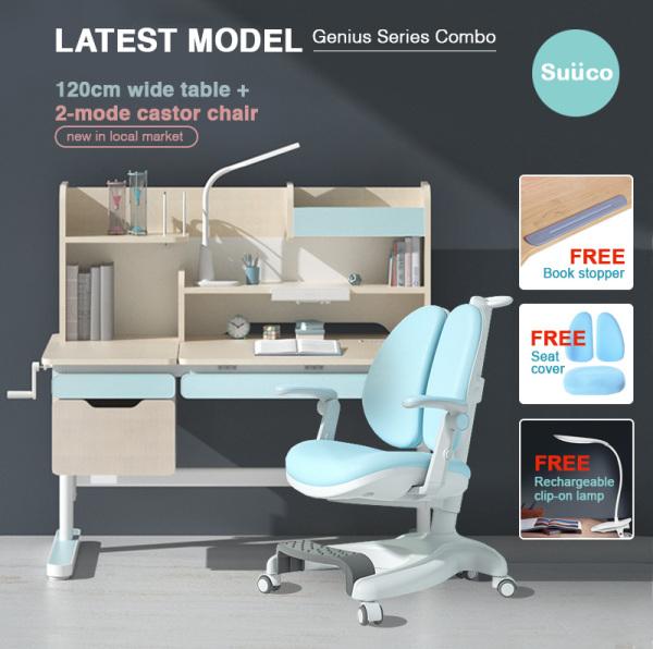 Suuco Genius Series Combo | Height Adjustable Study Table and Chair for Kids | Study Table and Chair for Children