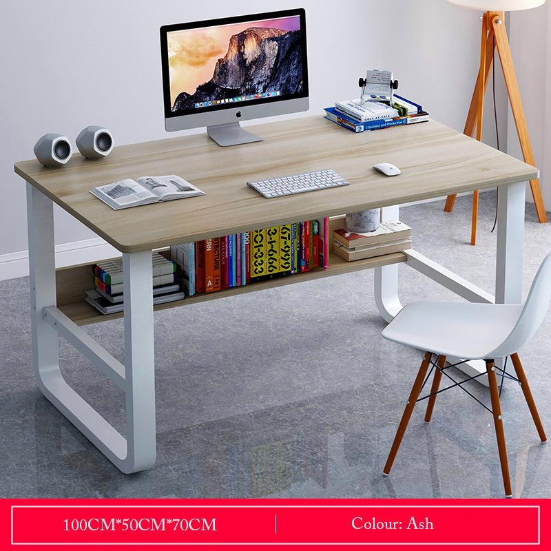 Ash Basic Desktop Study Table With Storage