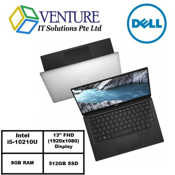 XPS 13 7390- Intel® Core™ i5-10210U/WIN 10 HOME/8GB RAM/512GB SSD/Intel® UHD Graphics/2Yrs Warranty