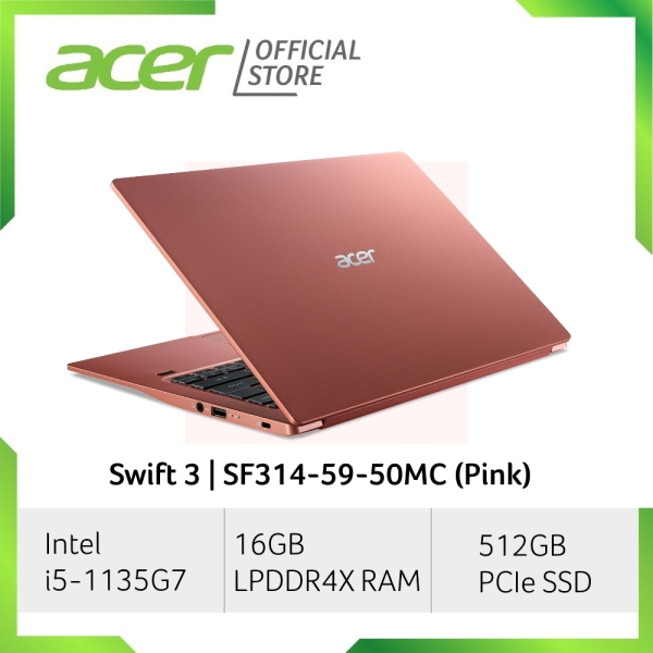 Acer Swift 3 SF314-59-5604/SF314-59-50MC/SF314-59-52K8 laptop with LATEST 11th gen Intel i5-1135G7 processor and Intel Iris Xe Graphics