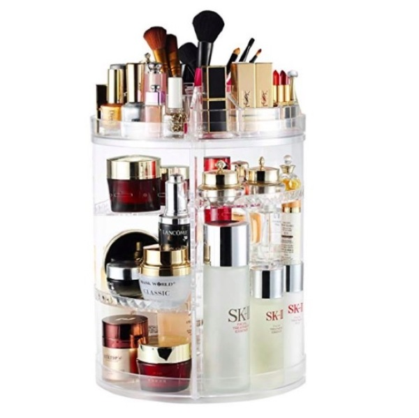Buy 360 Degree Rotate Makeup Organizer Clear Transparent Cosmetic Organiser Lipstick Holder Brush Holder Singapore