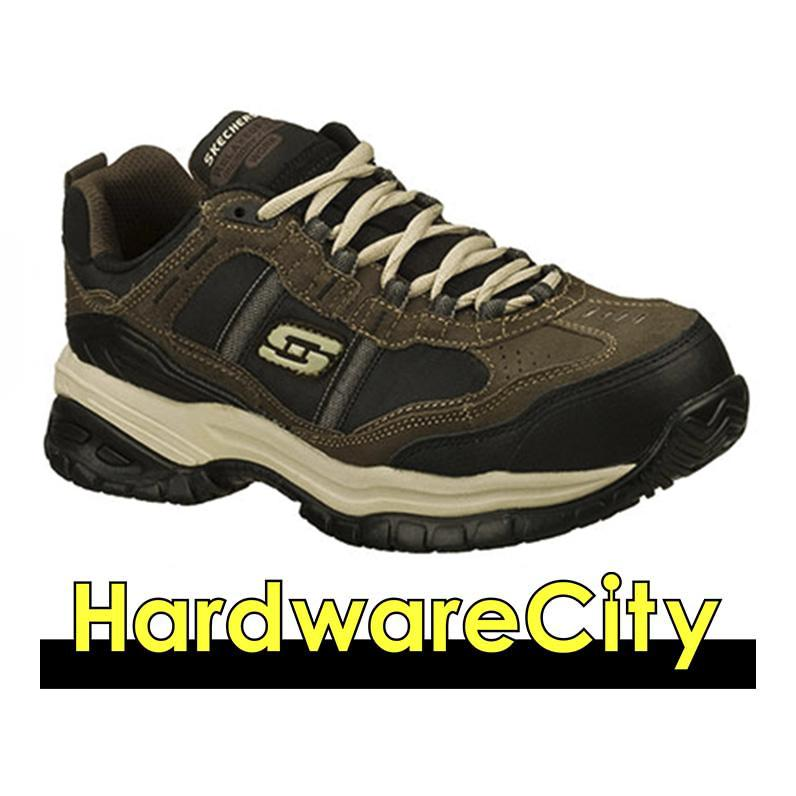 Skechers 77013 Work Relaxed Fit: Soft Stride - Grinnell Comp Shoes - Brbk / Nvgy (choose Color) By Hardwarecity Online Store.
