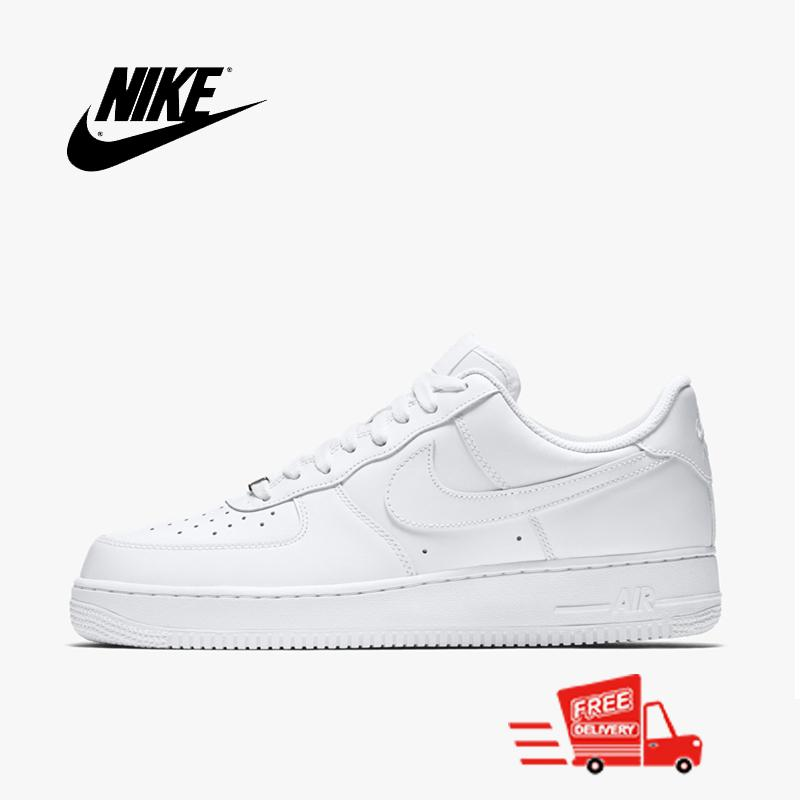 e1b6c8d74f Nike_Lovers Air Force 1 Unisex Street Low Top Canvas Shoes Sneaker For Mens  And Womens Skateboarding