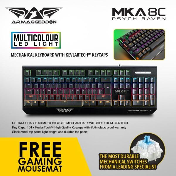 Armaggeddon Mechanical Gaming Keyboard MKA-8C(New) Fully Macro-able Singapore