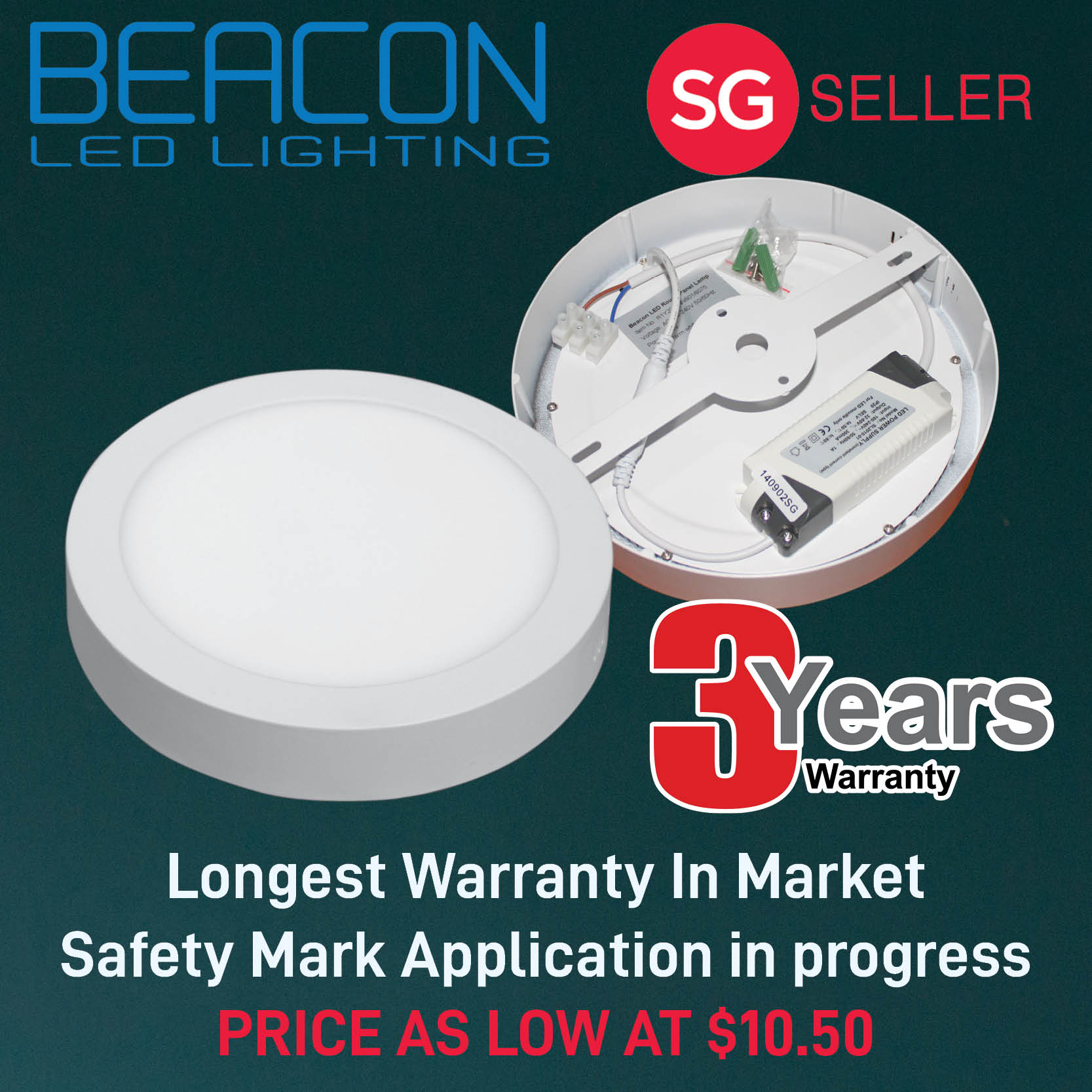 BEACON LED 12W/18W/30W/36W/45W Ceiling Light / Square Round Rectangle Surface Mounted Light-3 year warranty LONGEST WARRANTY