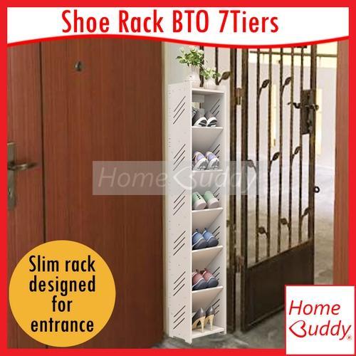 Shoe Rack BTO 7 Tiers_ Door Entrance Shoe Rack_ READY Stocks SG_ HomeBuddy_ Acev Pacific_ shoe cabinet_ slim shoe rack_ hdb bto shoe rack_ condo shoe rack_ corner shoe rack_ hidden shoe rack